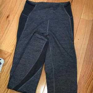 Lululemon two tone grey leggings with mesh!